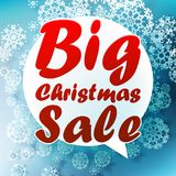 Christmas Big sale template. Royalty Free Stock Photos