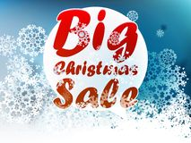 Christmas Big sale template. Royalty Free Stock Photography