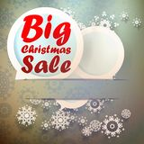 Christmas Big sale template. Royalty Free Stock Photo