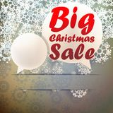 Christmas Big sale template. Stock Image