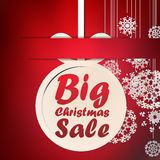 Christmas Big Sale template. + EPS10 Stock Photos