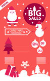 Christmas Big Sales info graphics. Stock Photo