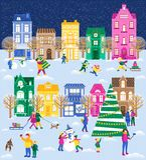 Christmas big set royalty free illustration