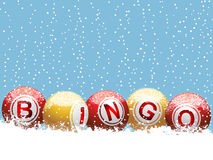 Christmas bingo background Stock Images