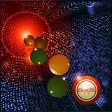 Christmas bingo ball and baubles background Stock Image