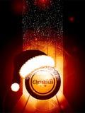 Christmas bingo ball with Santa hat Royalty Free Stock Photography