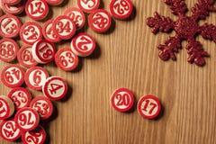 Christmas bingo numbers Stock Image