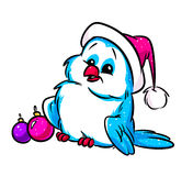 Christmas bird cartoon Stock Image