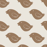 Christmas bird cookie pattern Stock Photography