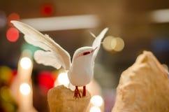 Christmas bird. Handmade christmas bird show on Christmas Festival Stock Photos