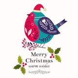 Christmas bird Stock Images