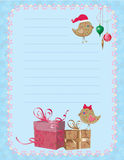 Christmas birdies notepad Stock Image