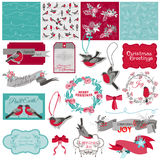 Christmas Birds Theme Royalty Free Stock Photo