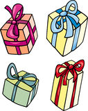 Christmas or birthday gift clip art set Stock Images
