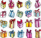 Christmas or birthday gift clip art set Royalty Free Stock Photos