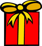 Christmas or birthday gift vector illustration. Vector illustration of a christmas or birthday gift Royalty Free Stock Images