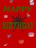 Christmas birthday. Birthday on Christmas makes a big splat Stock Images