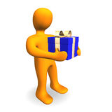 Christmas Birthday Person Gift 3D Royalty Free Stock Photo