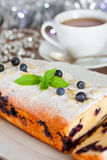 Christmas biscuit with blueberry Stock Image