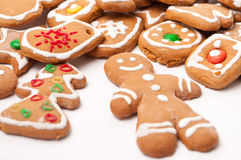 Christmas biscuit cookies. This is a Christmas biscuit cookies isolated over white Royalty Free Stock Image