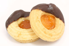 Christmas biscuit with jelly Stock Photo