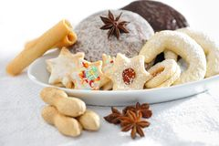 Christmas biscuits Stock Images