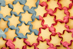 Christmas biscuits america flag Stock Image