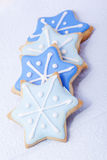 Christmas biscuits blue stars Stock Image