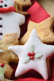 Christmas Biscuits Decorated with Icing Stock Photography