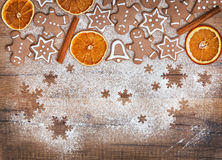 Christmas biscuits, gingerbread Stock Photography
