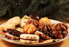 Christmas biscuits Stock Photography
