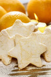 Christmas biscuits in star shape Stock Photography