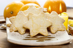 Christmas biscuits in star shape Stock Image