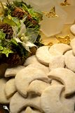 Christmas biscuits. With vanilla sugar stock image