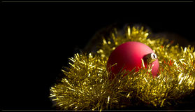 Christmas black background Stock Images