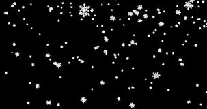Christmas black background with snowflakes falling snow from top, holiday xmas stock video