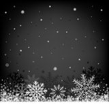 Christmas black background Stock Photography