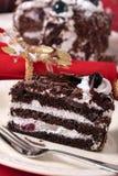 Christmas black forest gateau chocolate cake Royalty Free Stock Photo