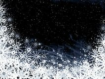 Christmas black frame. Christmas black background for design artworks Royalty Free Stock Photography