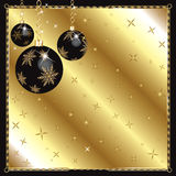 Christmas Black Gold Ornaments Royalty Free Stock Photos