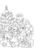 Christmas in black and white Stock Photos