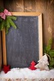 Christmas blackboard. Royalty Free Stock Photography