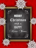 Christmas blackboard design Royalty Free Stock Photos