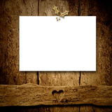 Christmas blank letter on rustic wall.Copyspace. Royalty Free Stock Photo
