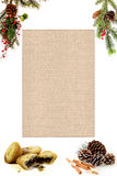Christmas blank menu for your own words Stock Photography