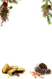 Christmas blank  menu for your own words Royalty Free Stock Images