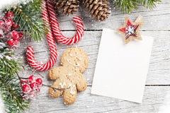 Christmas blank photo frame Stock Photo