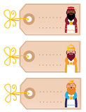 Christmas blank retro cards with gold ribbon Royalty Free Stock Photos
