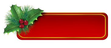 Christmas blank tag decoration element Royalty Free Stock Images