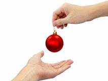 Christmas blessing. Receive a christmas blessing during christmas season Stock Photography
